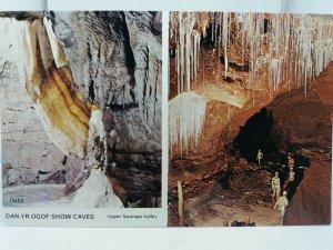 Vintage Multiview Postcard Dan Yr Ogof Show Caves Upper Swansea Valley  1970s