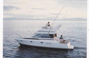 Boat ad, Maxum boat company, Washington, USA, 50-70s ; Model, Bayliner 3486 C...