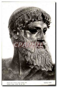 Postcard Modern Athens Archaeological Museum Head of Zeus Greece Greece Antiq...