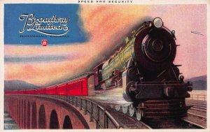 Broadway Limited Train, Pennsylvania Railroad, Early Postcard, Unused