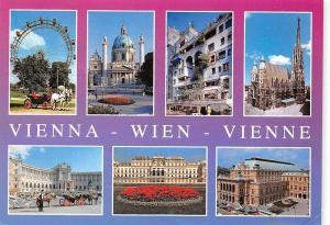 Vienna Wien, Riesenrad Karlskirche Hundertwasser Haus Stephansdom Hofburg