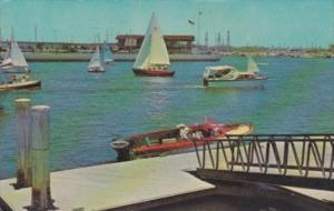 California Long Beach Main Channel Long Beach Marina 1965