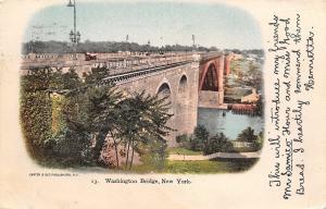 New York~Washington Bridge~1903 Postcard