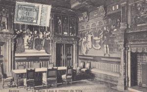 ANVERS, Belgium, 1900-1910's; La Salle Leys A L'Hotel De Ville