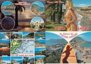 Pietra Ligure Portugal 1980s 4x Exotic Postcard s
