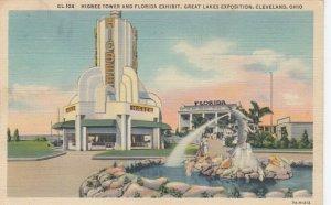 CLEVELAND , Ohio , 1937 ; Higbee Tower & Florida Exhibit, Great Lakes Expo
