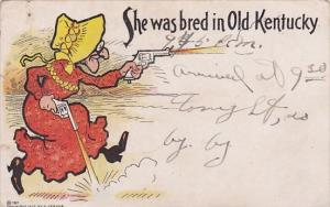 Humour Old Woman Shooting Guns She Was Bred In Old Kentucky 1909