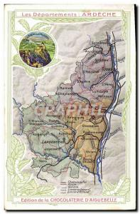 Postcard Old MAPS Chocolaterie d & # 39Aiguebelle Ardeche