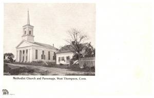 Connecticut  West Thompson , Methodist Church and Parsonage