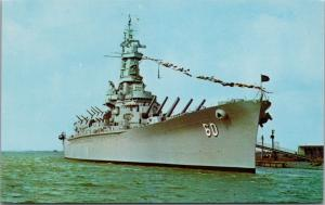 USS Alabama Battleship Unused Vintage Postcard E31