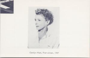 Carolyn West First Winner 1947 Powder Puff Derby Aviation Pioneers Postcard D87