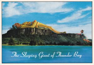ONTARIO, Canada; The Sleeping Giant of Thunder Bay,  Indian Princess waiting ...