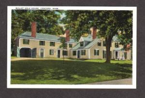 MA Bullet Hole House CONCORD MASSACHUSETTS MASS Postcard