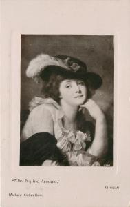 Mlle Sophie Arnould~French Operatic Soprano~By Greuze~Real Photo~1911 Post Card