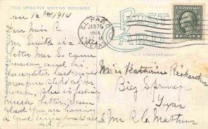 YMCA Building El Paso Texas 1914 postcard