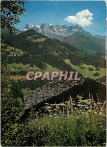 Modern Postcard Champery Val d'Illiez the ents noon