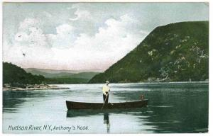 Campbell to Kenwood, New York 1909 Postcard, Anthony's Nose, Hudson River