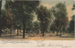 View in City Park - Franklin PA, Pennsylvania - pm 1906 - UDB