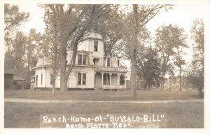 F53/ North Platte Nebraska RPPC Postcard c1930s Buffalo Bill Residence