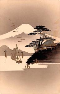 Japan Old Vintage Antique Post Card Art Unused