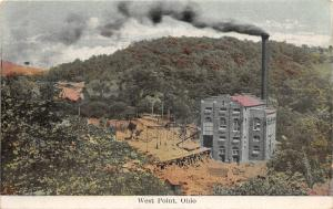 F20/ West Point Ohio Postcard c1910 Power House Traction 14