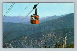 Franconia Notch NH- New Hampshire Tram Car & Eagle Cliff Aerial Chrome Postcard