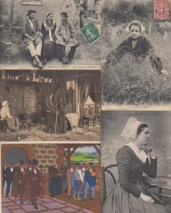 FRANCE FOLKLORE TYPES 567 Vintage Cartes Postales 1900-1960