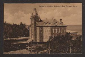 PQ Palais de Justice ROBERVAL LAC ST JEAN QUEBEC QC Postcard Carte Postale
