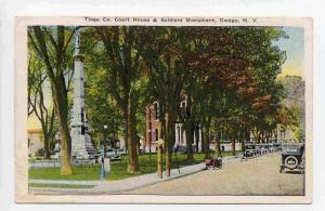 Tioga Co. Court House & Soldiers Monument,Owego, New York, 00-10s