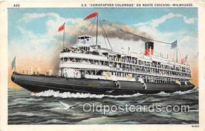 SS Christopher Columbus Milwaukee, WI USA Ship Postcard Post Card Milwaukee, ...