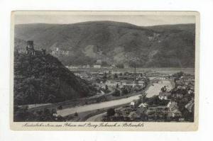 Niederlahnstein am Rhein mit Burg Lahneck u. Stolzenfels, Germany, 1900-1910s