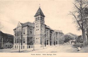 Idaho Springs Colorado~Public School~Houses Down Street~Business Behind~1908 B&W