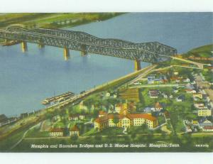 Unused Linen AERIAL VIEW Memphis Tennessee TN HQ9779