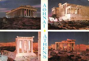 Athens Greece, Grece Monuments antiques d'Acropole a pleine lune Athens Monum...