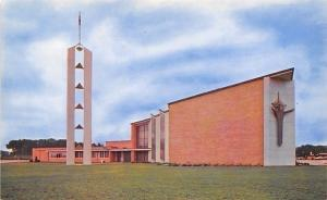 Cedar Falls Iowa~Nazareth Lutheran Church~1960s Postcard