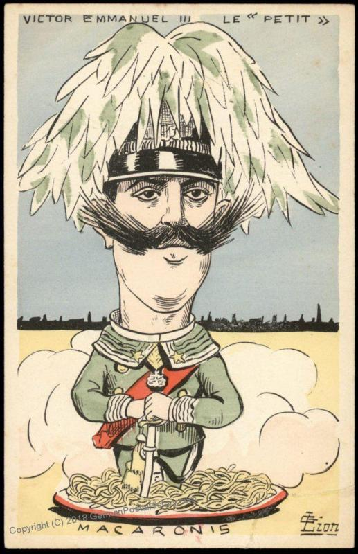 France WWI-era Political Anti-ItalianPatriotic Postcard 75461