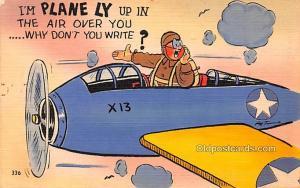 Series S Army Life Comics, Plane Military Comic Unused