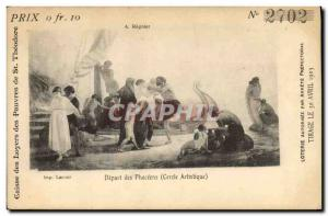Old Postcard Lottery Departure of Phoceens Artistic Circle