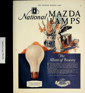 1928 General Electric National Mazda Lamps Light Bulb Vintage Print Ad 4315