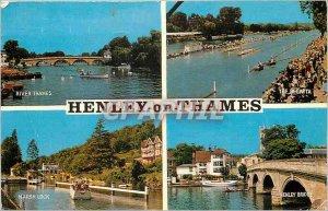 Postcard Modern Henley on Thames River Thames The regatta Marsh Lock