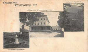 Greetings From Wilmington, Vermont, 3 Scenes on Unused 1898 Private Mailing Card