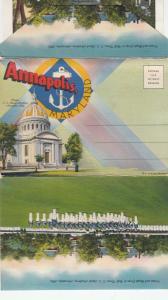 Folder Postcard, ANNAPOLIS, Maryland, 1930-40s