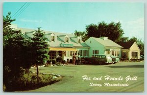 Quincy Massachusetts~Fox & Hound Grill~Neon Sign~50s Cars~Station Wagon~1950s