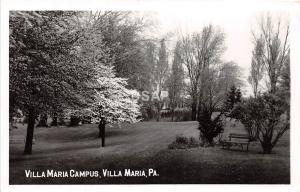 C52/ Villa Maria Pennsylvania Pa Photo RPPC Postcard c1950s Villa Maria Campus