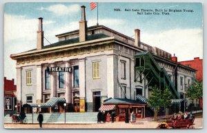 Salt Lake City UT~Concession Stand?~Trash Can Outside Theatre~Porte Cochere~1910