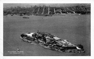ALCATRAZ ISLAND San Francisco Bay, CA Prison c1930s Vintage Postcard