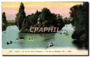 Old Postcard The Paris Lac Du Bois De Boulogne