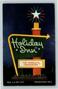 Springfield OH- Ohio, Holiday Inn, Advertising, Chrome Postcard