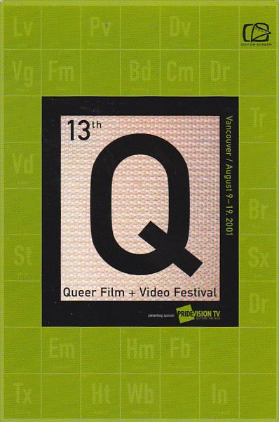 Advertising 13th Queer Film & Video Festival 2001 Vancouver British Columbia