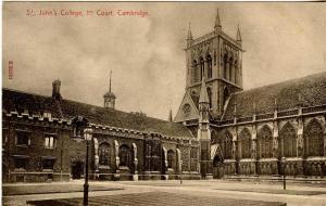 UK - England, Cambridge. St Johns College First Court